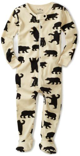 Hatley Black Bears On Natural Footed Coverall