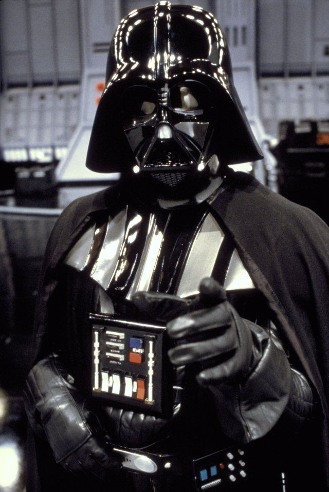 David Prowse (James Earl Jones voice) as Darth Vader in Star Wars - 1977