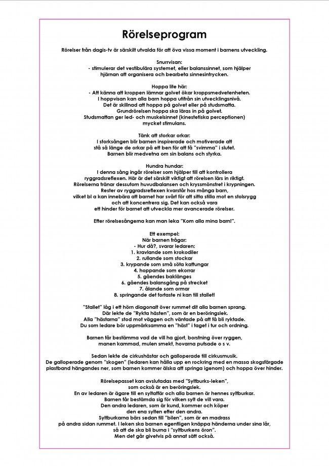 Mariaslekrum - Gympa/rörelse