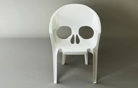 Unique skull chair. industrial design. product design