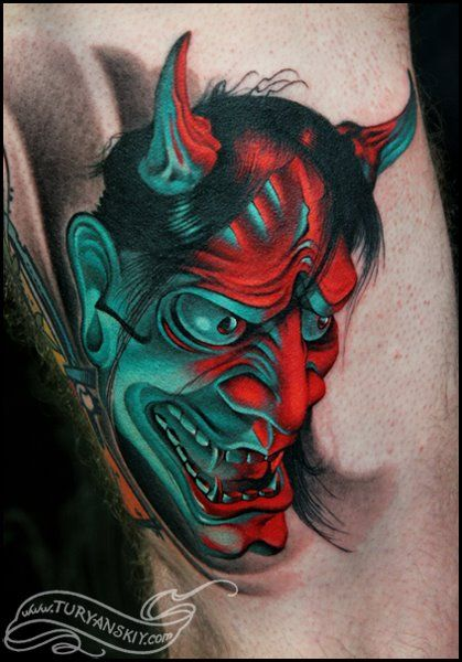 Japanese Demon Tattoo by Oleg Turyanskiy
