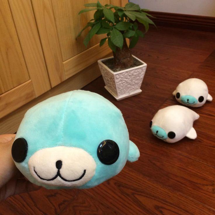 Морской лев кукла Рождественский подарок Детям Игрушки 18*11 см Симпатичный Автомобиль Присоски Кулон Кукла Мягкая Bamboo морской лев плюшевые Игрушки