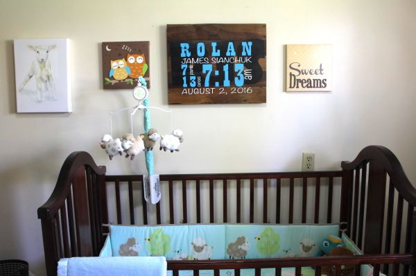 Reclaimed Wood Wall Decor - Baby Announcement! www.greenlightindustries.ca/online-store