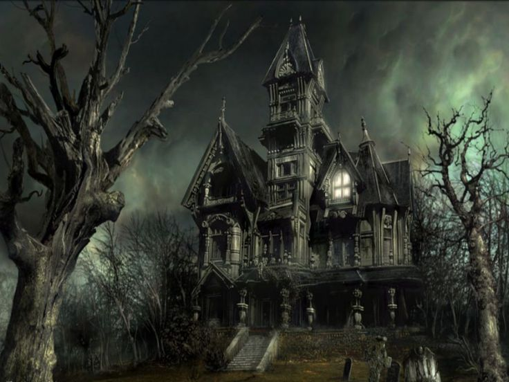 A great, creepy old victorian mansion. What do you want to bet a witch lives there? I know I would.