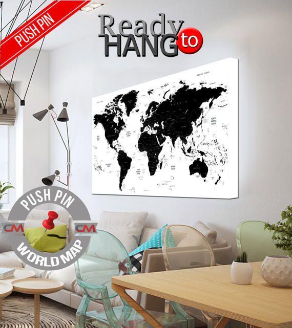 High quality canvas prints! #interiordesign #interiorstyle #decorating #decorate #decor #artforsale #CanvasPrint #CanvasPrints #CanvasArt #homedecor #officedecor #canvas #CanvasMafia #ideaforgift    Travelers map, Pin board map, Large push pin map, Print World Map Poster, Detailed world map, Wall art decor ideas, Push pin travel art, Art