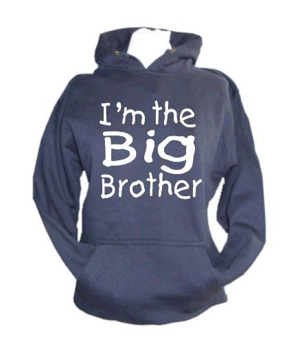 Childrens Navy hoodie 'I'M THE BIG BROTHER'