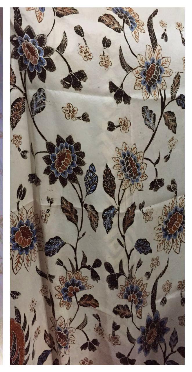 Batik Full Tulis motif Lunglungan Bahan thaisilk 59 2,50m x 1,15m