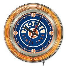Lionel Trains Neon Pub Clock