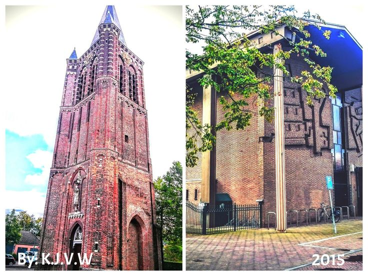 https://flic.kr/p/yErojJ | Old&New  (Old Church Tower  &  New Church Building) -Son  (By:K.J.V.W 2015)