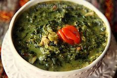 Trinidad Callaloo. I read that Callaloo is eaten on Old Year's Night (New Year's Eve) for good luck. Looks like I will have two good luck meals this year (love my new year's day blackeyed peas and hog jowel + cabbage)