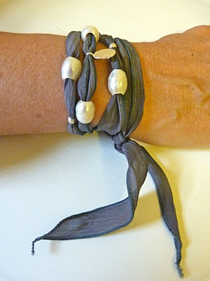 silk wrap bracelets in my shop  http://www.etsy.com/shop/beachcomberhome?ref=pr_shop_more