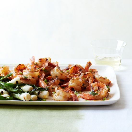 ... grilled shrimp with miso butter and an easy grilled paella grilled
