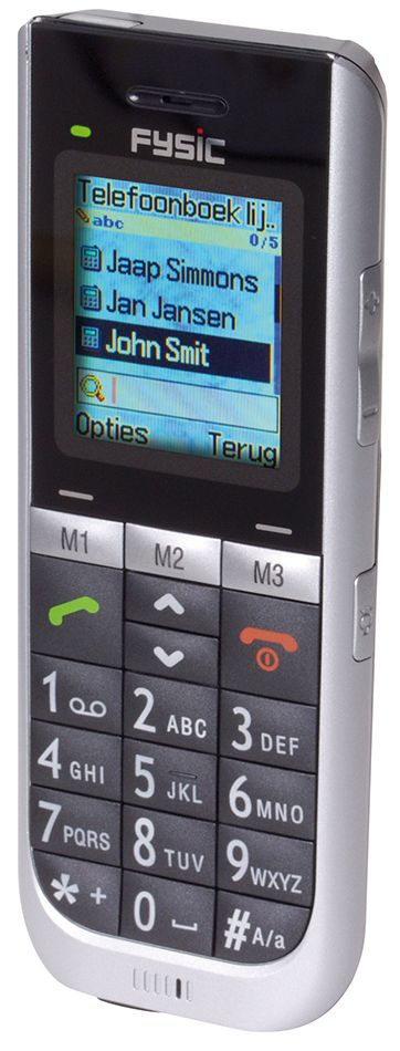 Gebruiksvriendelijke telefoon  Description: De extra grote toetsen het grote lettertype en het een-voudige en overzichtelijke toetsenbord bieden extra comfort en maken telefoneren en SMS berichten versturen eenvoudig. De telefoon beschikt over de belangrijkste functies dus geen overbodige en ingewikkelde handelingen. Handig is de alarmtoets. U kunt 3 telefoonnummers programmeren die gekozen worden nadat u de alarmtoets op de achterzijde van de telefoon indrukt. Als er geen alarmnummer…