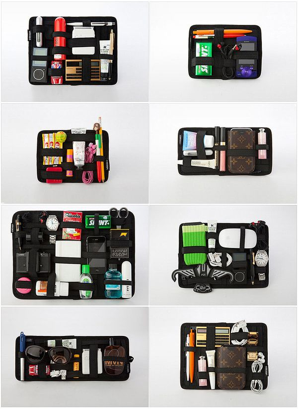 Get a Grid-It for your electronics. 10 handy tips for packing like a pro!