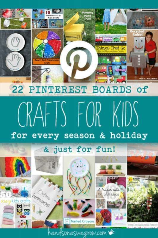 Pinterest Crafts for Kids for Every Season, Holiday and Just for Fun via @handsonaswegrow