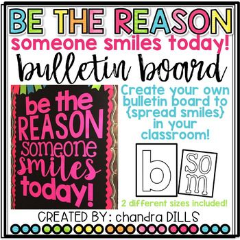 Do you want to {SPREAD SMILES} in your classroom! Do you already using the Spreading Smiles slips with your students?Now you can create your OWN Bulletin Board using these letter templates that come in TWO different sizes!Simply print on your favorite paper or cardstock, cut, and put the letters on a bulletin board or on your door!