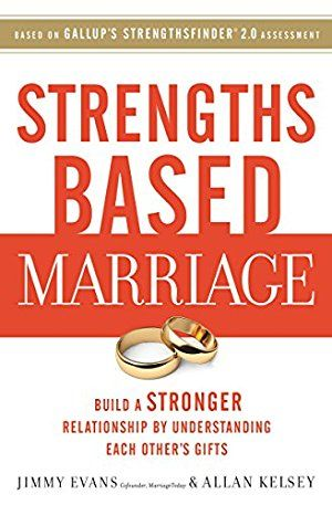 "Dr. Henry Cloud, clinical psychologist says, ""Over the last decade, the StrengthsFinder assessment has transformed the worlds of business and leadership. In this book, Evans and Kelsey apply these findings to marriage, and the results are fantastic."" Based on personality type, on Kindle. 2/14/17"
