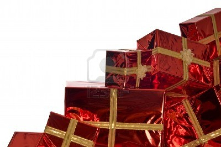 Google Image Result for http://us.123rf.com/400wm/400/400/limonzest/limonzest0810/limonzest081000004/3776951-pile-of-christmas-presents-wrapped-in-red-foil-on-white-background.jpg