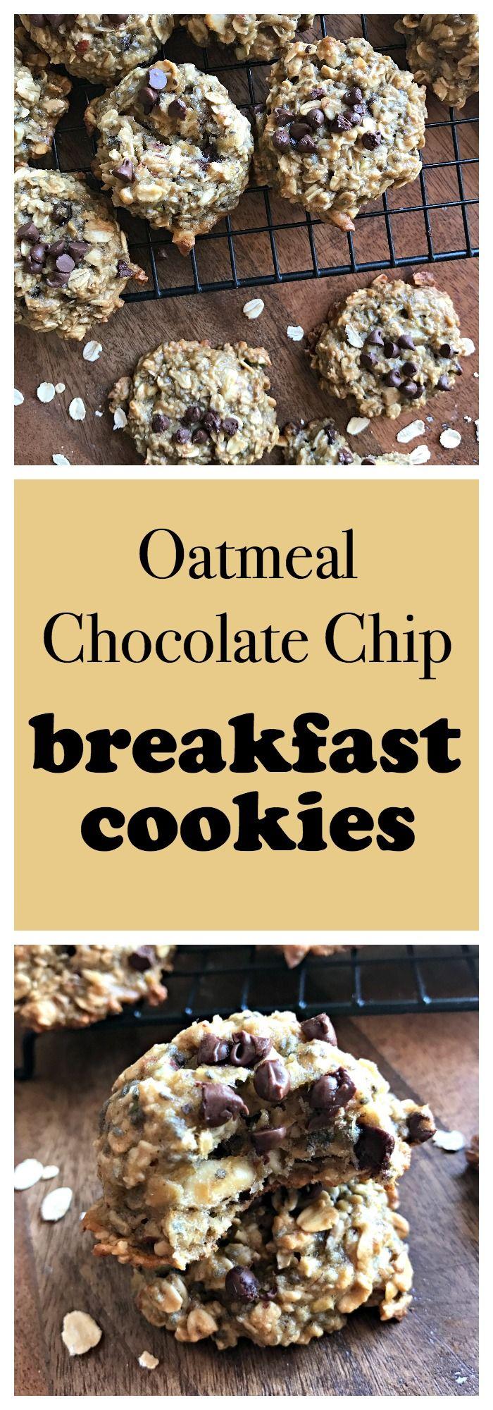 Oatmeal Chocolate Chip Breakfast Cookies// Kathryn's Kitchen Blog