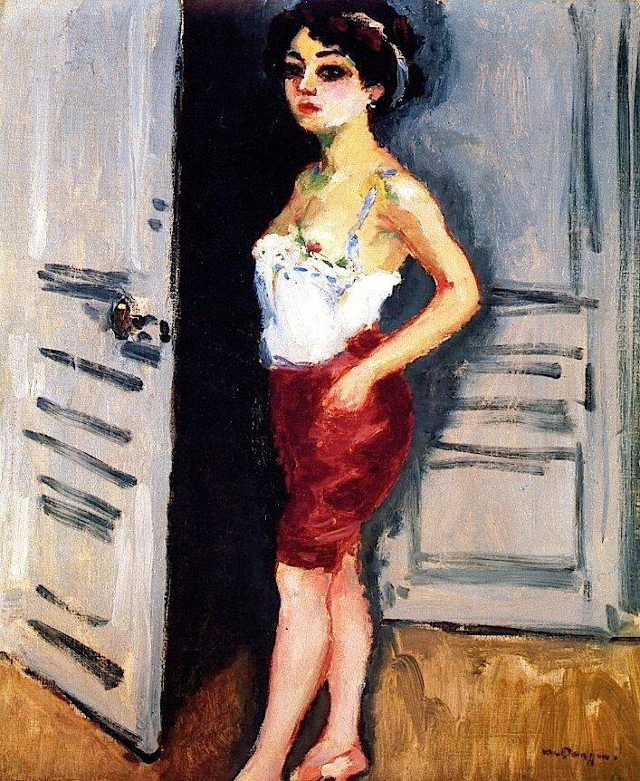 Kees van Dongen - Standing Undressed, c. 1910. Oil on canvas, 65 cm (25.59 in.) x 54 cm (21.26 in.). Private Collection