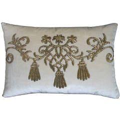 Antique Ottoman Empire Raised Gold Metallic Embroidery