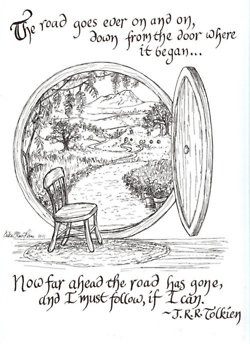 """""""I must follow, if I can.""""  Explains why I so wanderlust... it all started with An Unexpected Journey and Bilbo."""