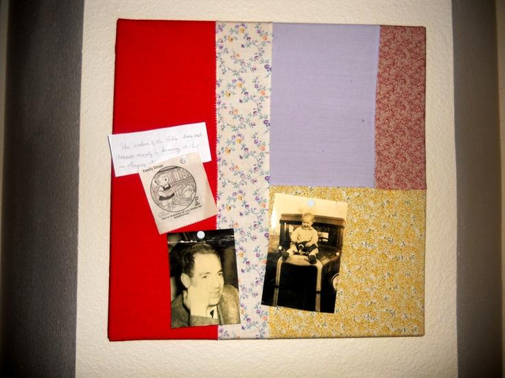 message cork board covered in fabric sewn togetherBoards Covers, Messages Corks, Cork Boards, Corks Boards