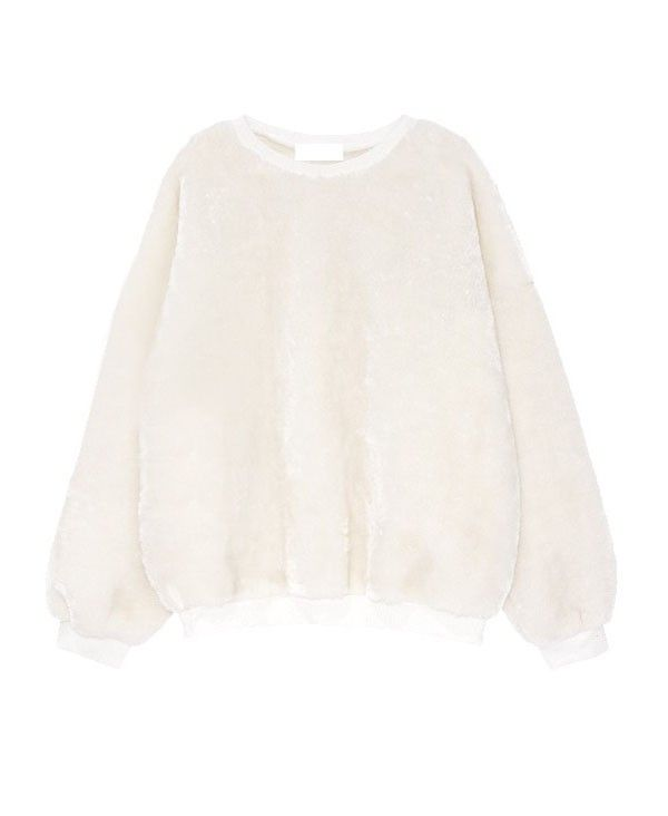 <p>- Made from a soft touch plush fabric</p> <p>- Round neckline</p> <p>- Long sleeves styling</p> <p>- Fluorescence color</p> <p>- Loose fit</p>