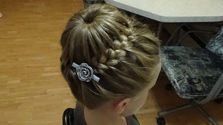 Плетение косичек.Причёска Корзинка (с губкой).Hairstyle.Basket.Braids.Tu...
