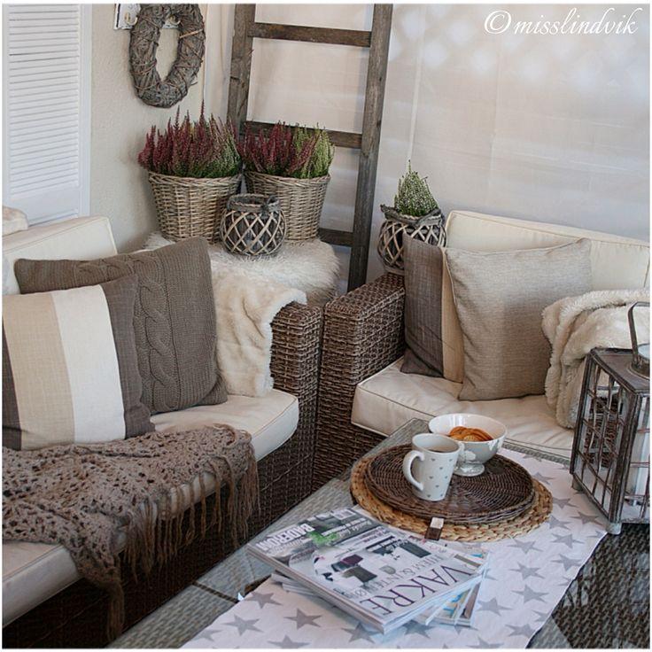 Høst, outdoorliving, rotting, interiør, misslindvik, myhome, veranda,