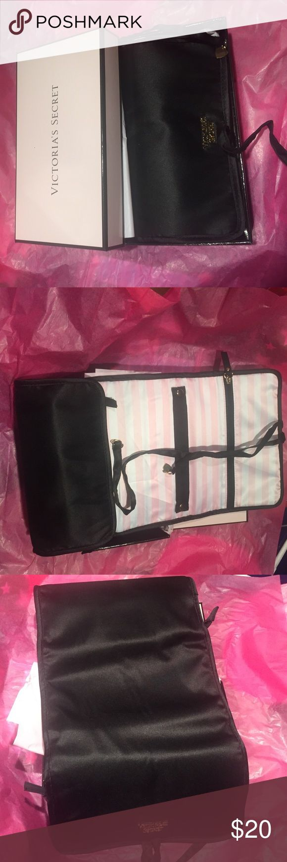 NWT Victoria secret roll up jewelry case NWT Victoria secret roll up jewelry case Victoria's Secret Bags Travel Bags