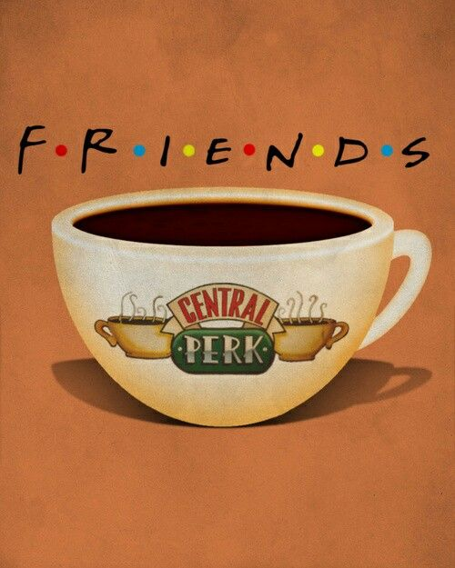 Friends Minimalist tv poster serie