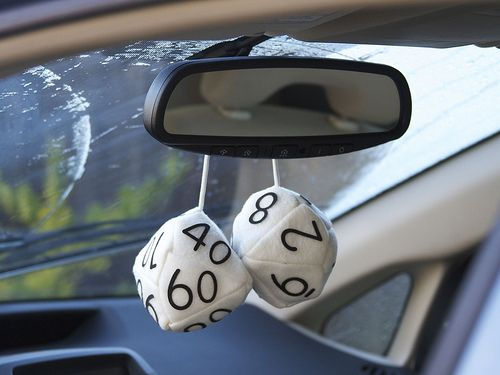 Fuzzy dice for dungeons and dragons geeks.