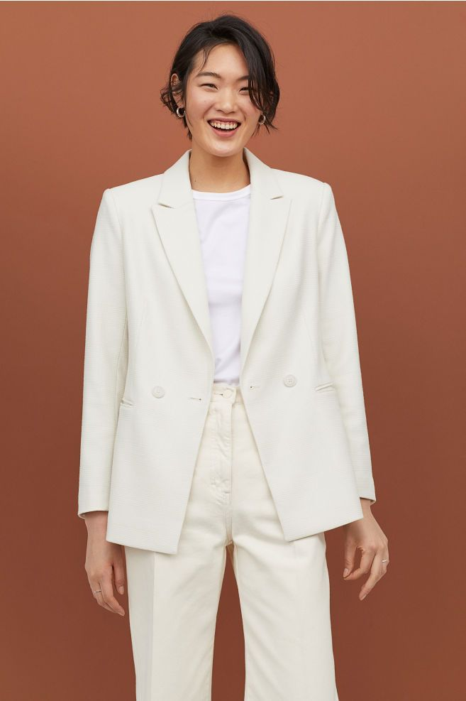 3328ee7582a Double-breasted Blazer in 2019 | 255555 | Blazer, Blazer buttons ...