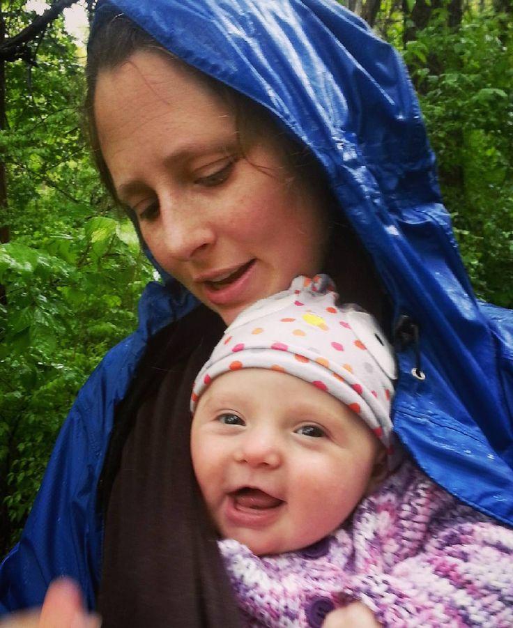 Happy hiking rain or shine #Edythejean #babies #hiking #vassar
