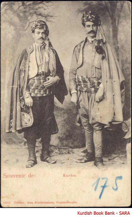 Kurdische Männer im Jahr 1889.