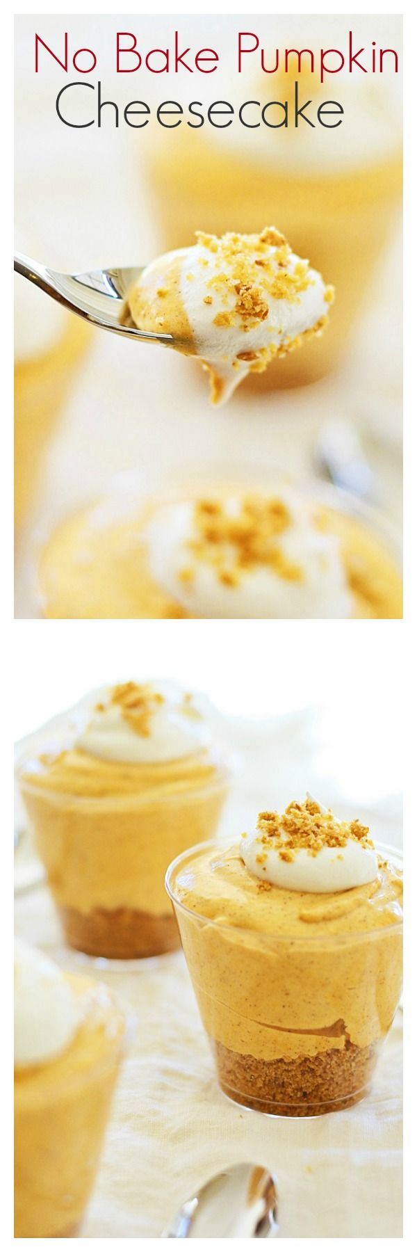No Bake Pumpkin Cheesecake – BEST fall cheesecake that is sweet, creamy & crazy GOOD you'll want more. Recipe by @afamilyfeast | rasamalaysia.com.