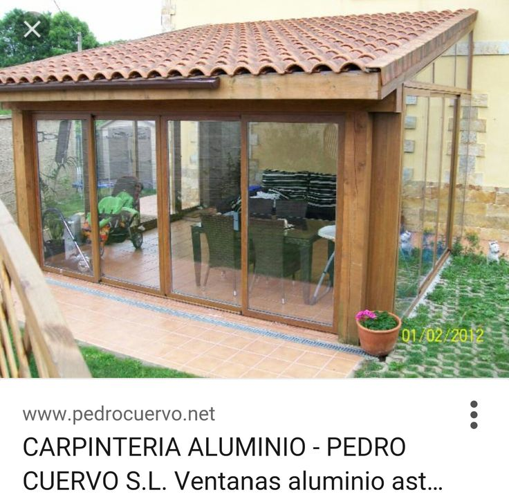 cerramiento exterior cerramientos exteriores jard n terraza pinterest terrassen berdachung. Black Bedroom Furniture Sets. Home Design Ideas
