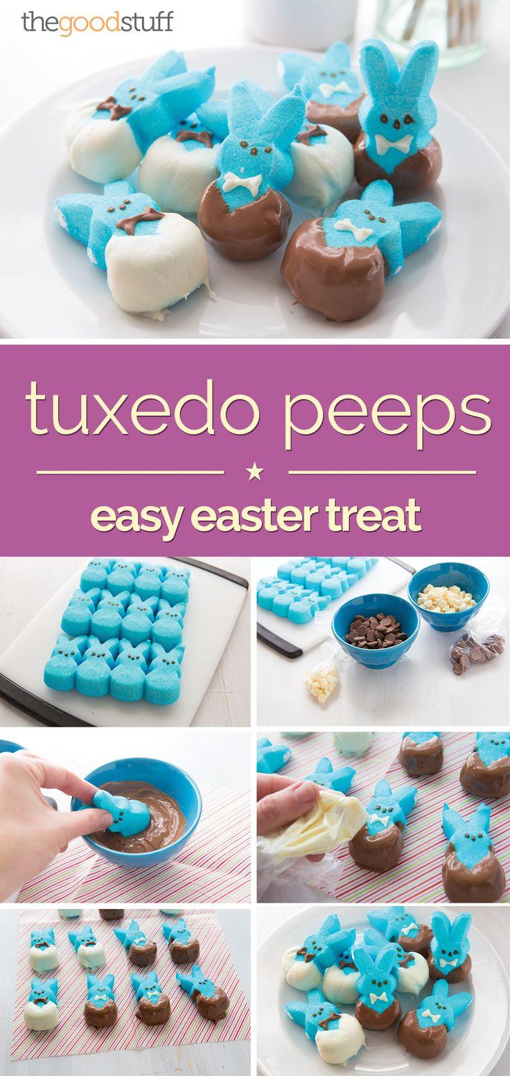 Easy Easter Treats: Tuxedo Peeps - thegoodstuff