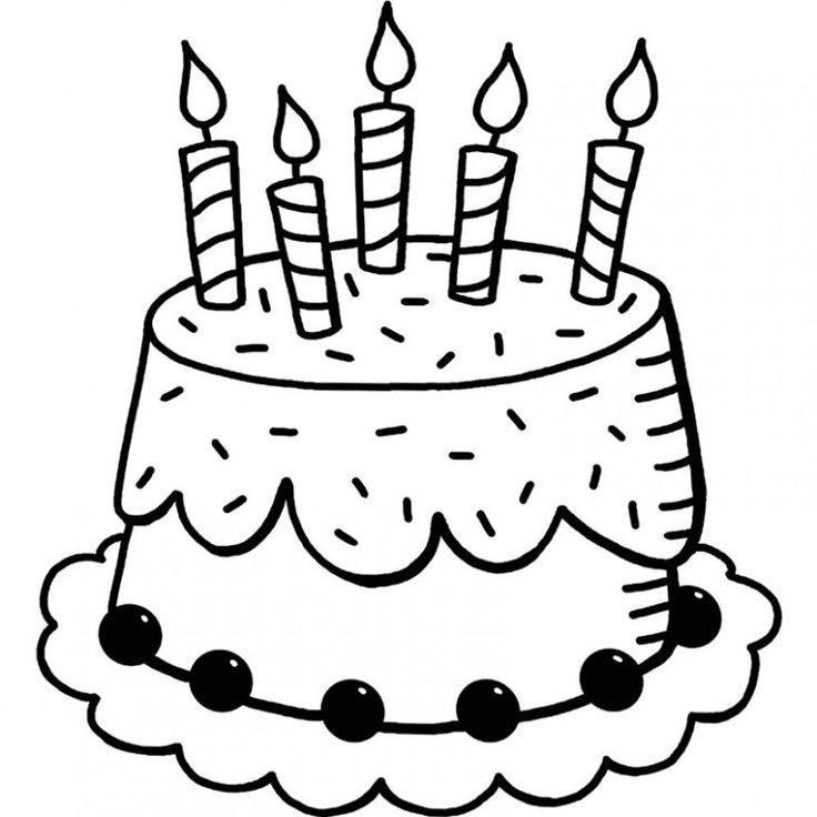 """Résultat de recherche d'images pour """"dessins gateau anniversaire 5 bougies""""   Coloriage ..."""