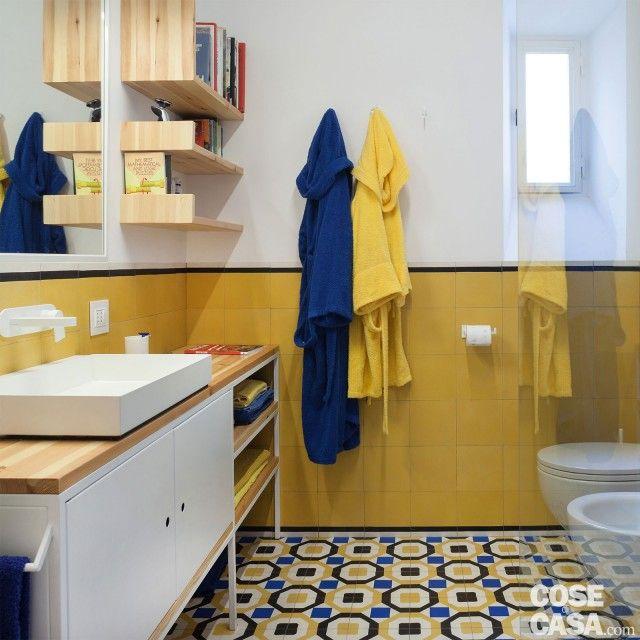 Oltre 25 fantastiche idee su piastrelle blu su pinterest - Cementina bagno ...