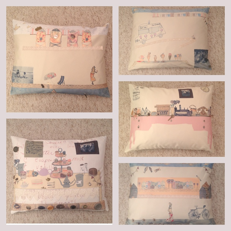 Handmade scene cushions. Final piece for Sweet Vintage project.