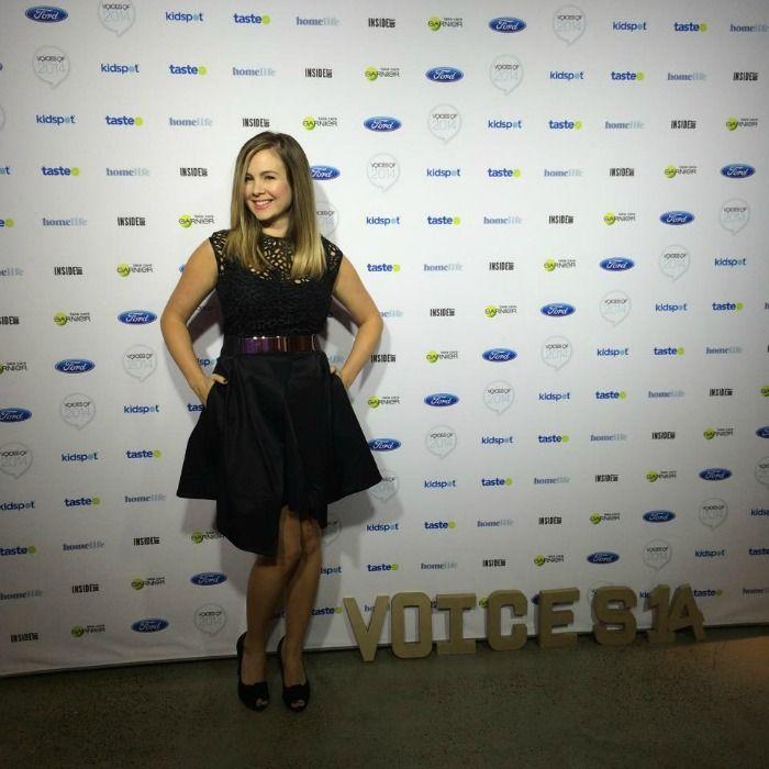 Liza Emanuele sheer top and structured skirt, Sportsgirl rose gold belt and black patent peeptoe heels | soniastyling.com