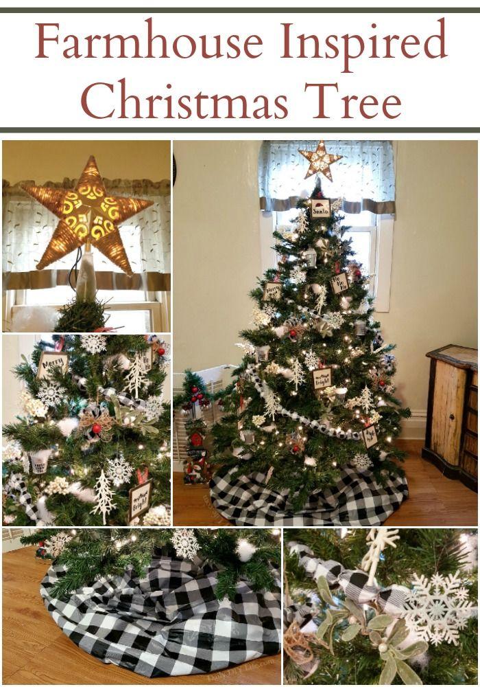 Simple Elegant Farmhouse Style Christmas Tree Daily Diy Life Christmas Tree Farmhouse Style Christmas Christmas Tree Decorating Tips