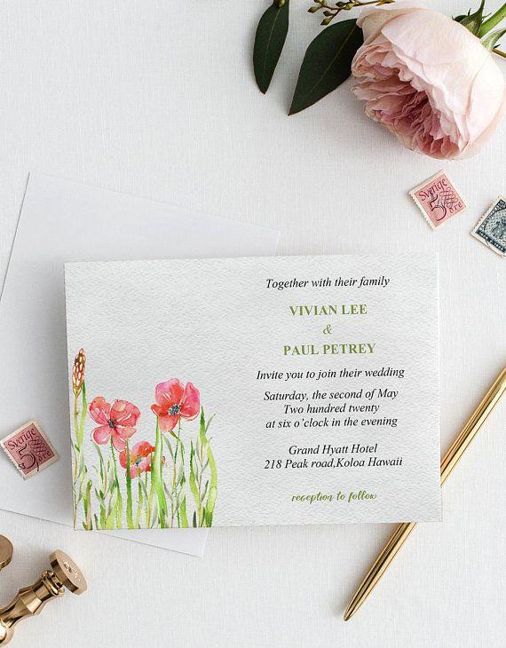 Floral Wedding Invitation Card Printable Wedding Card Printable Greeting Card Templat Floral Wedding Invitation Card Floral Wedding Invitations Wedding Cards