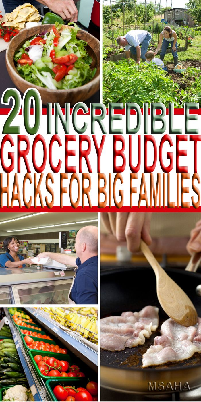 Want to learn how they do it? Here are 20 Grocery Budget Hacks for Big Families to help you save money. And no you don't need a big family to save!