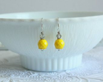 Lemon Color Earrings