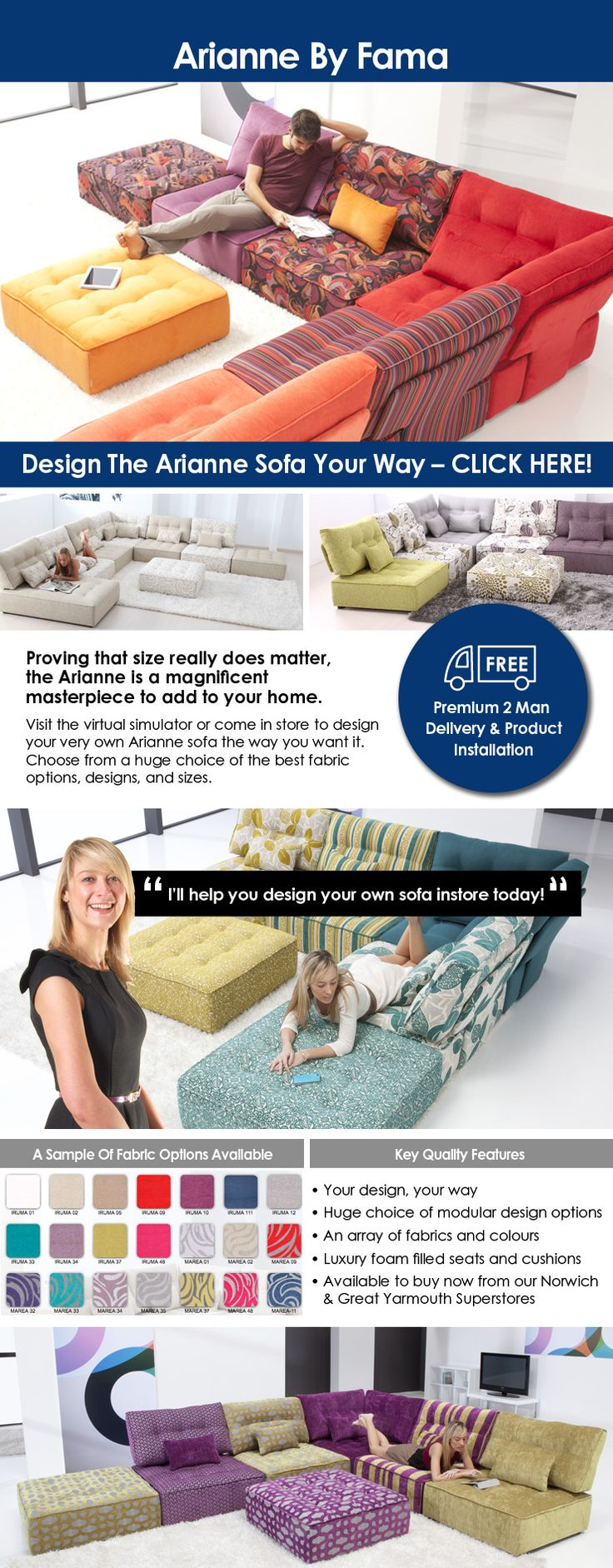 Arianne - Better Furniture Norwich & Furniture Great Yarmouth. www.betterfurniture.co.uk