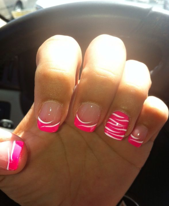Super Cute Pink Zebra Nails Cant Wait To Try This Out Ooo
