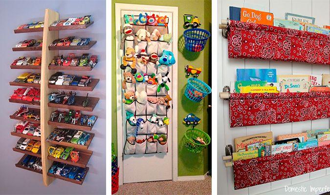 30 ideias para organizar as coisas das crianças. Soluções práticas, criativas, inteligentes e funcionas para manter tudo em ordem e em fácil acesso.